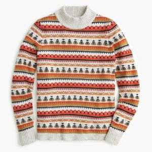 J. Crew Sweaters - J. Crew Mockneck Fair Isle Heather Pebble Sweater